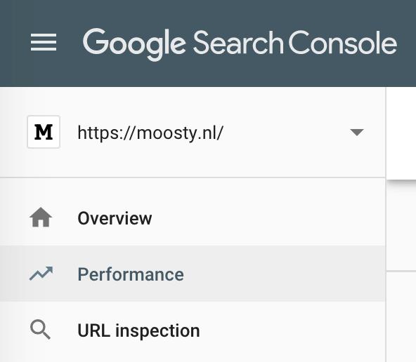 bekijken hoe je website presteert onder Performance - Google Search Console